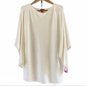 Vince Camuto Cream Oversized Dolman Sweater M